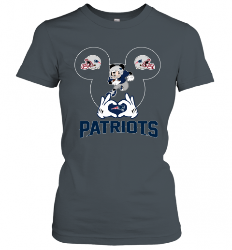 ttdd i love the patriots mickey mouse new england patriots ladies t shirt 20 front dark heather