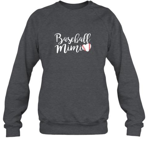 wj5g funny baseball mimi shirt gift sweatshirt 35 front dark heather