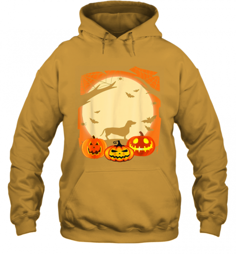 Dachshund Witch Funny Dog Halloween Gift Hoodie