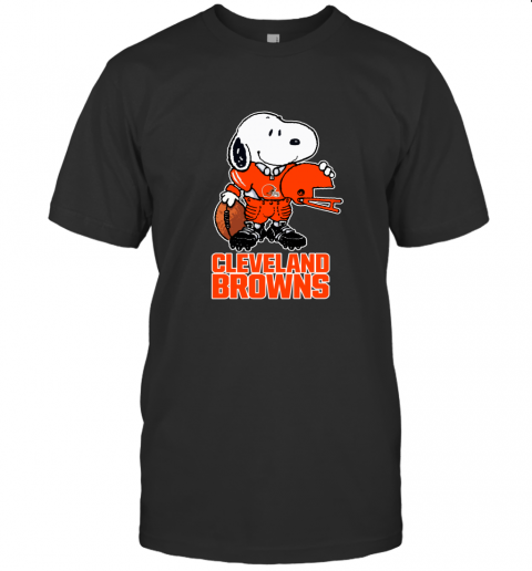 Snoopy A Strong And Proud Cleveland Browns NFL T-Shirt