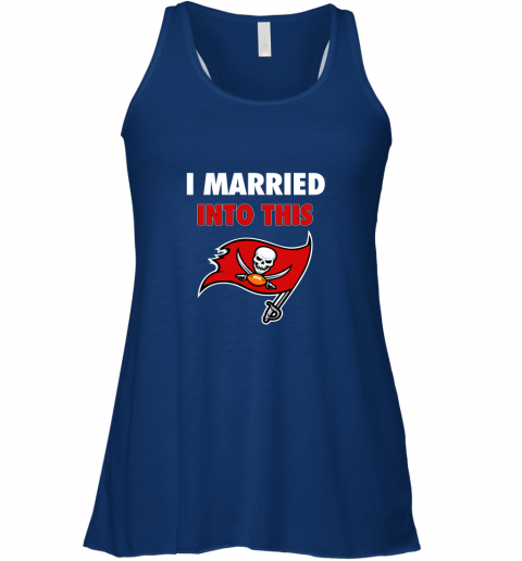 y7ou i married into this tampa bay buccaneers football nfl flowy tank 32 front true royal