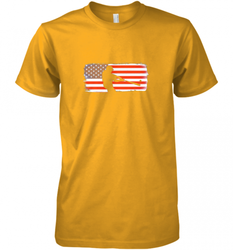 tk9z usa american flag baseball player perfect gift premium guys tee 5 front gold
