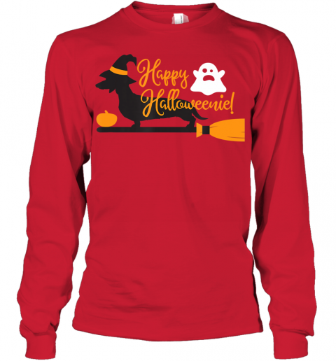 Happy Halloweenie Wiener Dog Youth Long Sleeve