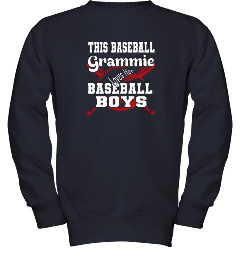 x2yv this baseball grammie loves her baseball boys youth sweatshirt 47 front navy