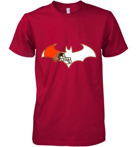 epgb we are the cleveland browns batman nfl mashup premium guys tee 5 front red