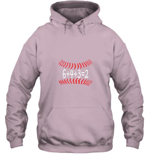 ks8d funny baseball 6432 double play shirt i gift 6 4 32 math hoodie 23 front light pink