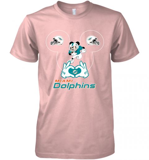 gqrj i love the dolphins mickey mouse miami dolphins premium guys tee 5 front light pink