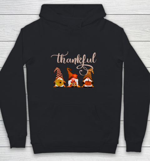 Cute Thanksgiving Thankful Gnomes Youth Hoodie