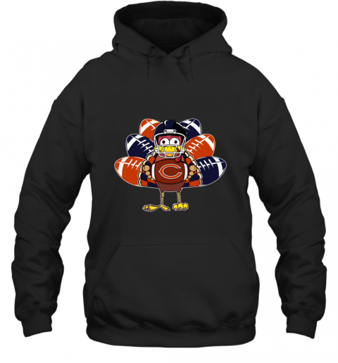 Chicago Bears  Thanksgiving Turkey Football NFL Hoodie