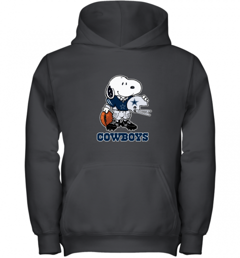 Snoopy Strong And Proud Dallas Cowboys Player NFL Youth Hoodie