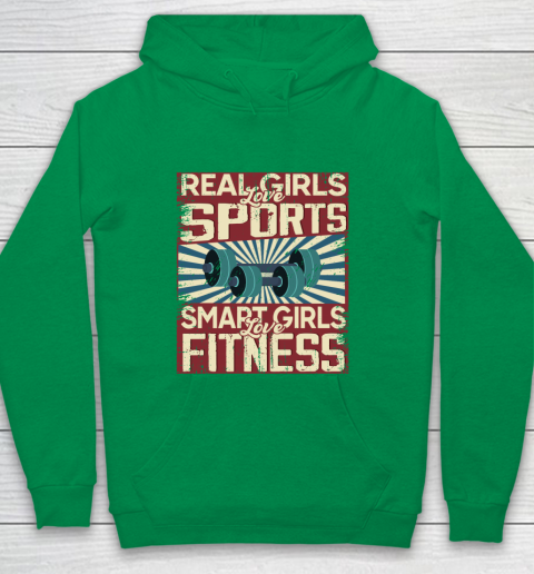 Real girls love sports smart girls love fitness Youth Hoodie 4