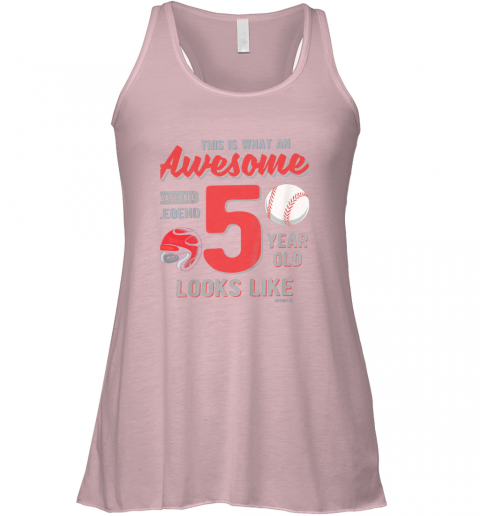 ps80 kids 5th birthday gift awesome 5 year old baseball legend flowy tank 32 front soft pink