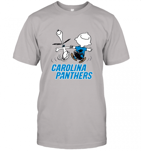 Snoopy And Charlie Brown Happy Carolina Panthers Fans Unisex Jersey Tee