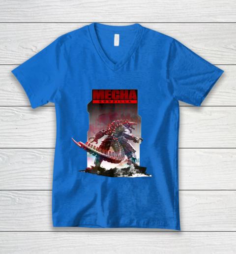Godzilla vs Kong Mechagodzilla V-Neck T-Shirt 5