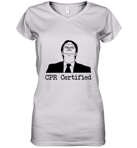 First Aid Fail CPR Certified The Office Women's V-Neck T-Shirt