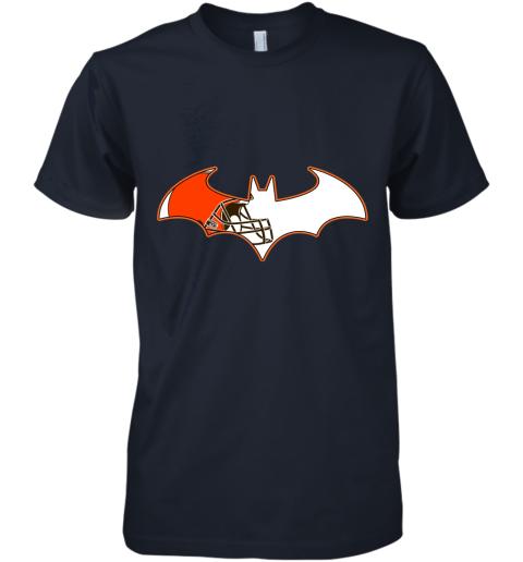 epgb we are the cleveland browns batman nfl mashup premium guys tee 5 front midnight navy