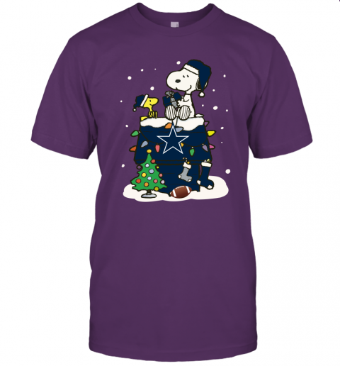 A Happy Christmas With Dallas Cowboys Snoopy Unisex Jersey Tee