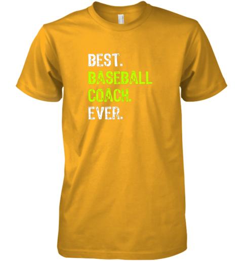 wvju best baseball coach ever funny gift premium guys tee 5 front gold