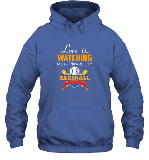 0jrm love is watching my grandson play baseball shirt grandma hoodie 23 front royal