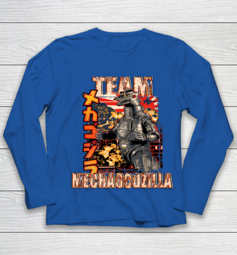 Team Mechagodzilla Japan Vintage Style Youth Long Sleeve 7
