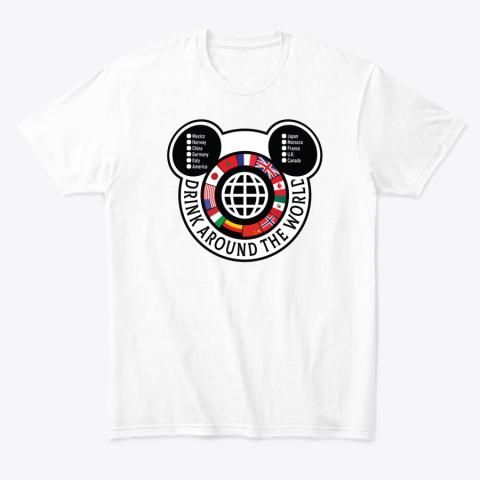 Drink Around the World EPCOT Checklist T-Shirt