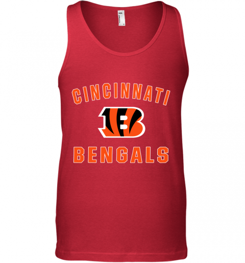1o3o cincinnati bengals nfl pro line gray victory unisex tank 17 front red