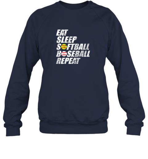 0sow softball baseball repeat shirt cool cute gift ball mom dad sweatshirt 35 front navy