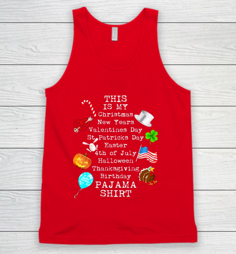 Funny Christmas New Year Birthday Valentine 10 holidays in 1 Tank Top 5