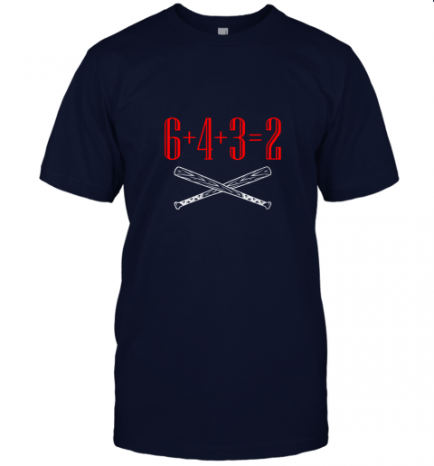 1jlk funny baseball math 6 plus 4 plus 3 equals 2 double play jersey t shirt 60 front navy