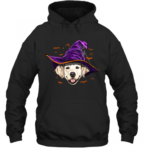 Golden Retriever Witch Funny Halloween Gifts Dog Lover Hoodie