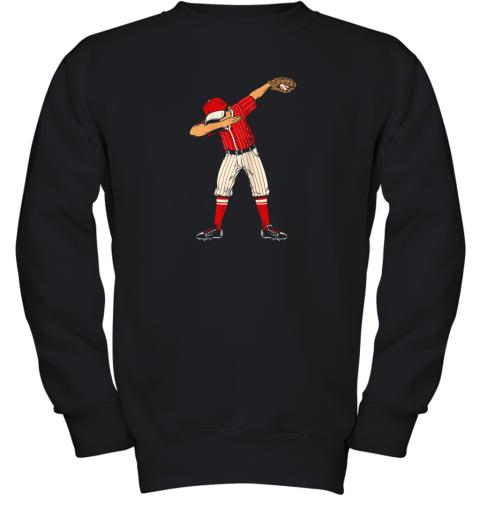 Dabbing Baseball Catcher Gift Shirt Kids, Men, Boys BZR Youth Sweatshirt