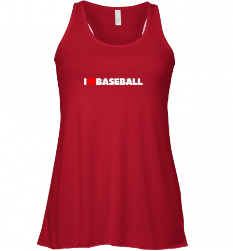 vjdl i love heart baseball flowy tank 32 front red