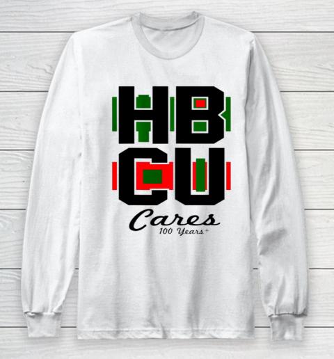 HBCU Cares College University Graduation Gift Black School Long Sleeve T-Shirt