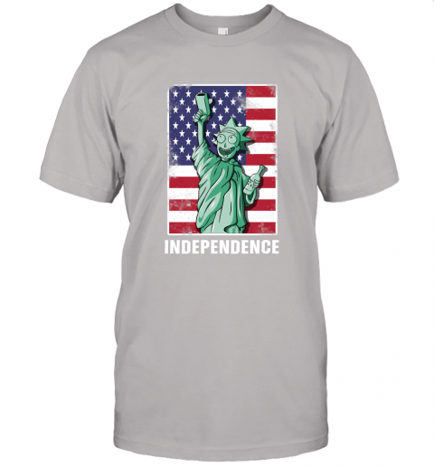 ujnx rick and morty statue of liberty independence day 4th of july shirts jersey t shirt 60 front ash