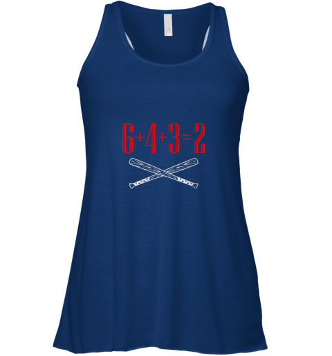 0z3b funny baseball math 6 plus 4 plus 3 equals 2 double play flowy tank 32 front true royal
