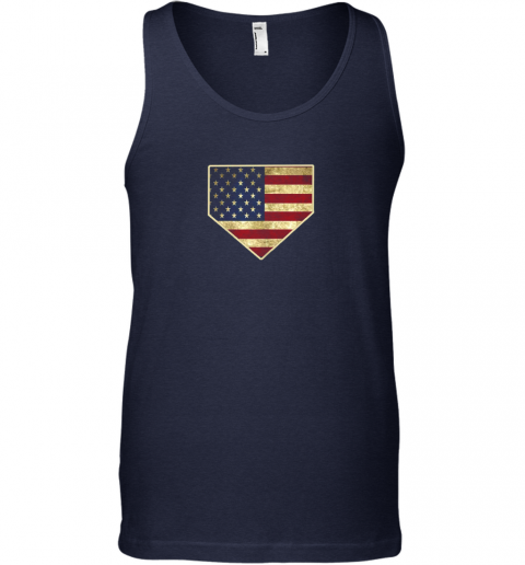 0dou vintage american flag baseball shirt home plate art gift unisex tank 17 front navy