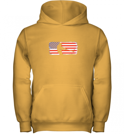 s6qo usa american flag baseball player perfect gift youth hoodie 43 front gold