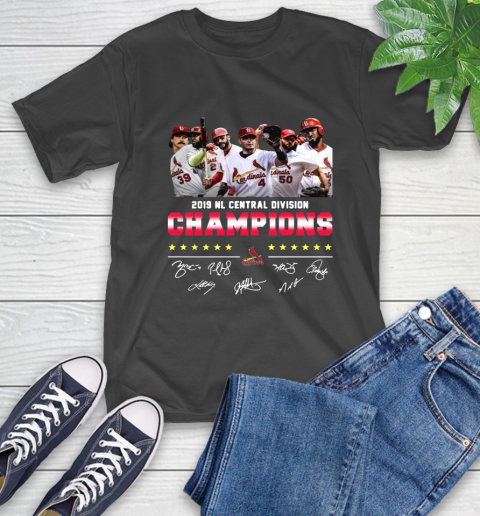 2019 Nl Central Division Champions Cardinals Signature