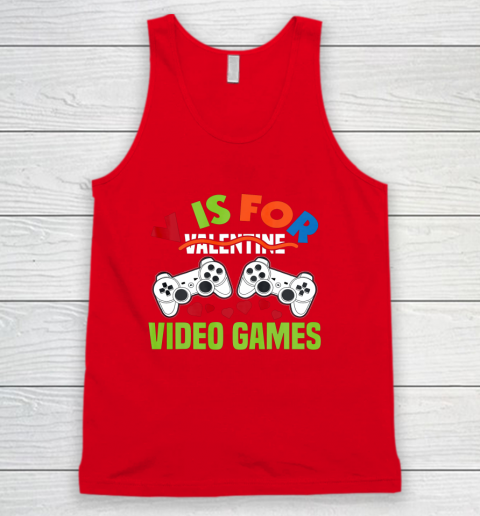 Funny Video Games Lover Valentine Day Tank Top 5