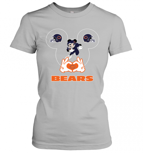 gowl i love the bears mickey mouse chicago bears ladies t shirt 20 front sport grey