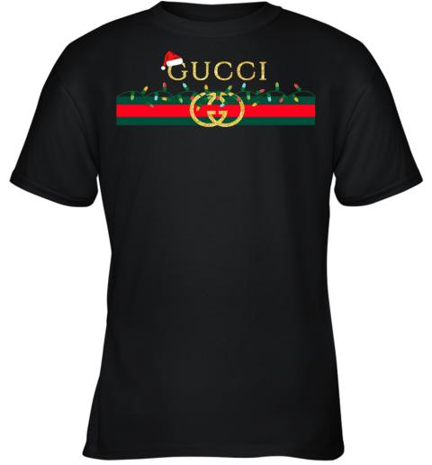 Gucci Logo_Vintage Christmas Light Gift Youth T-Shirt