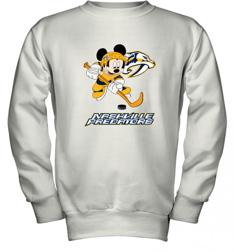 NHL Hockey Mickey Mouse Team Nashville Predators Youth Sweatshirt