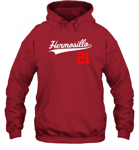 s70u hermosillo shirt in baseball style for mexican fans hoodie 23 front red