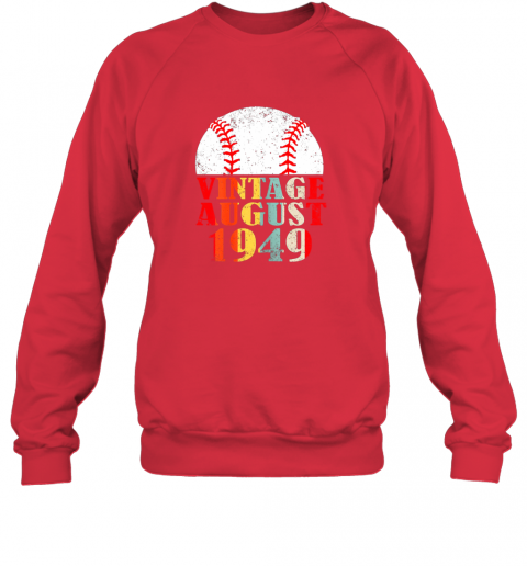 kkum born august 1949 baseball shirt 70th birthday gifts sweatshirt 35 front red