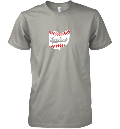 fykr cleveland ohio 216 baseball premium guys tee 5 front light grey
