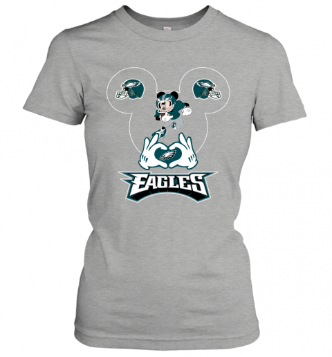 jhmm i love the eagles mickey mouse philadelphia eagles ladies t shirt 20 front ash