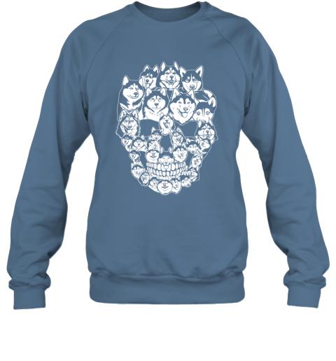 Siberian Husky Dog Skull TShirt Best Halloween Costume Sweatshirt