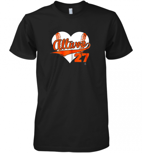 Jose Altuve Baseball Heart Shirt  Apparel Premium Men's T-Shirt