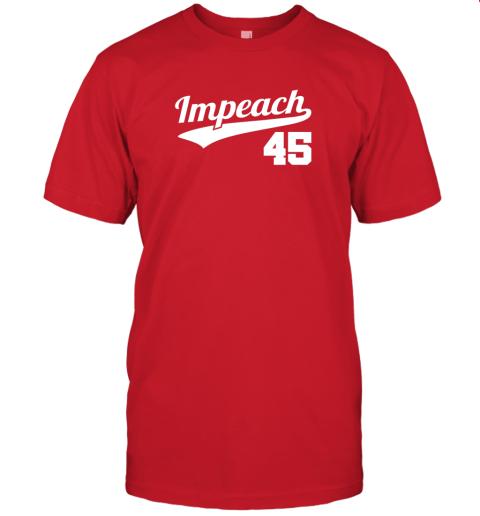 wqwp impeach donald trump 45 baseball logo jersey t shirt 60 front red