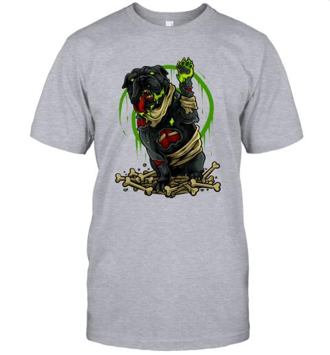 Pitbull Terrier Dog Zombie Halloween Scary T-Shirt